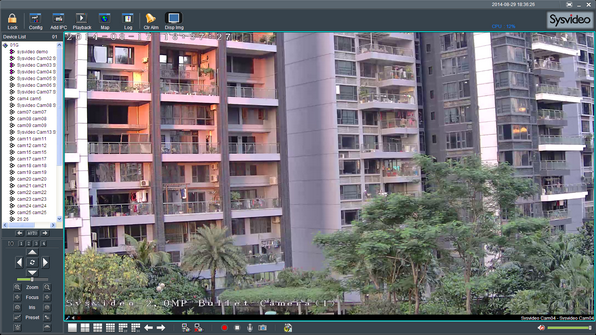Sysvideo SC6000 Series IP Camera Management Software XCenter UI: Main Window 1ch