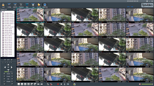 Sysvideo SC6000 Series IP Camera Management Software XCenter UI: Main Window 25ch